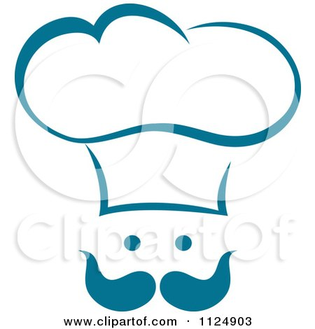 Clipart of a Black and White Chefs Toque Hat 8 - Royalty Free ...