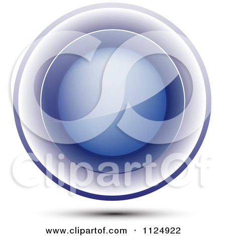 Clipart Of A 3d Reflective Blue Orb - Royalty Free Vector Illustration by vectorace