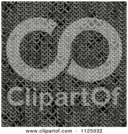 Clipart Of A Seamless Chainmail Texture Background Pattern - Royalty Free CGI Illustration by Ralf61