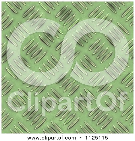Clipart Of A Seamless Green Metal Diamond Plate Texture Background Pattern - Royalty Free CGI Illustration by Ralf61