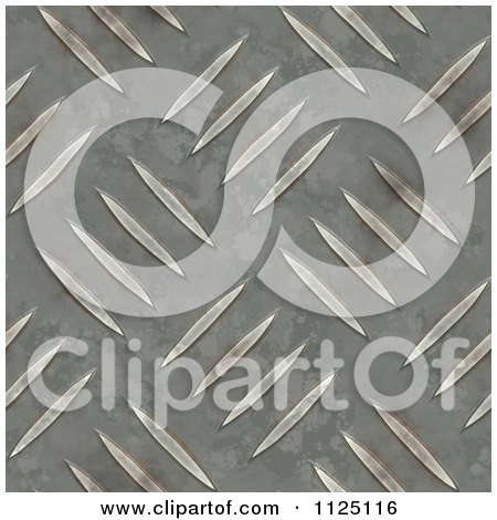 Clipart Of A Seamless Metal Diamond Plate Texture Background Pattern - Royalty Free CGI Illustration by Ralf61