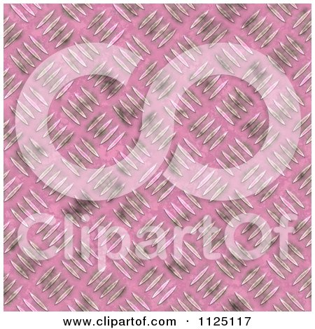 Clipart Of A Seamless Pink Metal Diamond Plate Texture Background Pattern - Royalty Free CGI Illustration by Ralf61