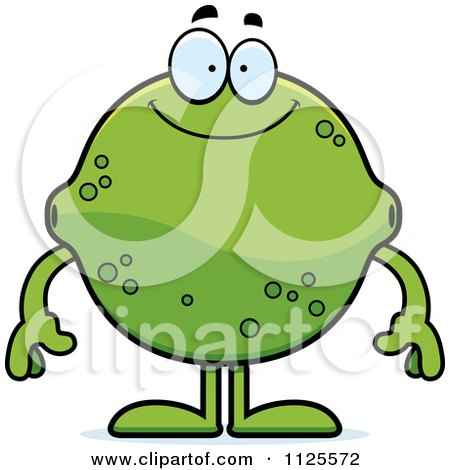 Cartoon Of A Happy Lime Mascot - Royalty Free Vector Clipart by Cory Thoman