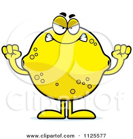 Cartoon Of An Angry Lemon Mascot - Royalty Free Vector Clipart by Cory Thoman