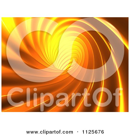 Clipart Of A 3d Orange Vortex - Royalty Free CGI Illustration by chrisroll