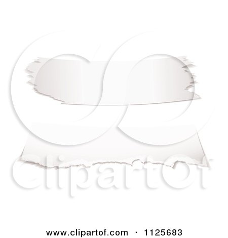 Clipart Of 3d Torn Paper Pieces - Royalty Free Vector Illustration by michaeltravers