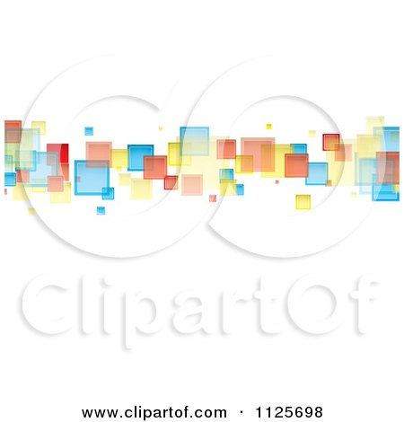 Clipart Of A Background Of Colorful Squares On White - Royalty Free Vector Illustration by michaeltravers