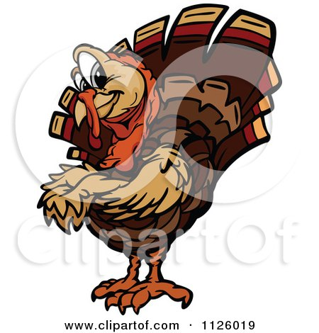 Turkey Bird Mascot With Folded Arms Posters, Art Prints