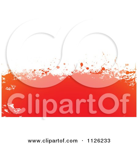Clipart Of A Grungy Orange On White Splatter Background - Royalty Free Vector Illustration by michaeltravers