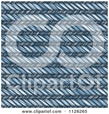 Clipart Of A Seamless Blue Jean Texture Background Pattern 10 - Royalty Free CGI Illustration by Ralf61