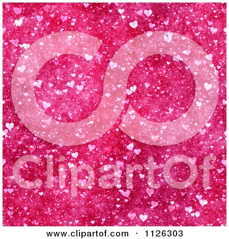 Clipart Of A Seamless Pink Heart Texture Background Pattern - Royalty Free CGI Illustration by Ralf61