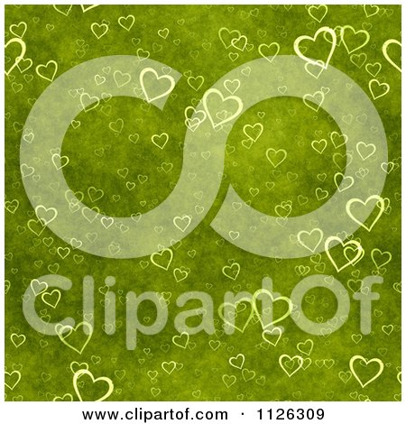 Clipart Of A Seamless Green Heart Texture Background Pattern - Royalty Free CGI Illustration by Ralf61