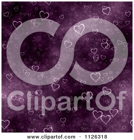Clipart Of A Seamless Purple Heart Texture Background Pattern - Royalty Free CGI Illustration by Ralf61