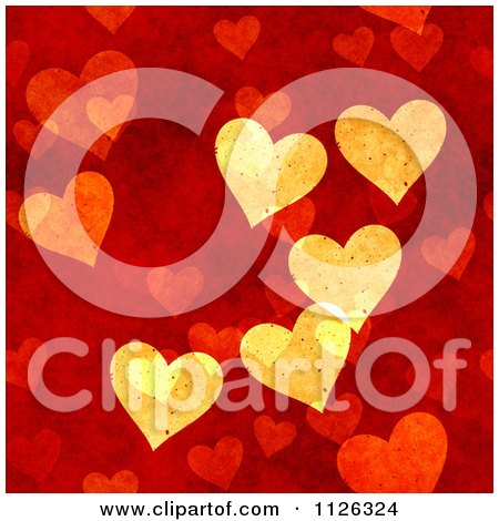 Clipart Of A Seamless Red Heart Texture Background Pattern - Royalty Free CGI Illustration by Ralf61