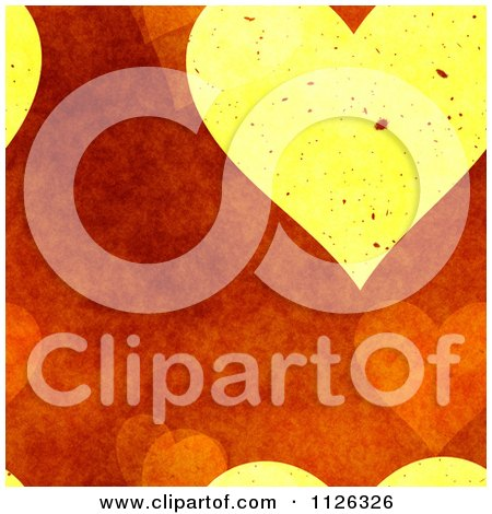 Clipart Of A Seamless Orange Heart Texture Background Pattern - Royalty Free CGI Illustration by Ralf61