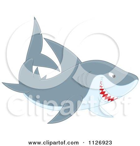 Cartoon Of A Smiling Shark