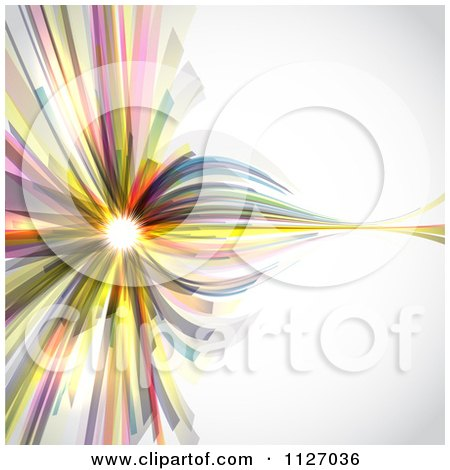 Clipart Of An Abstract Colorful Background With Light - Royalty Free Vector Illustration by KJ Pargeter