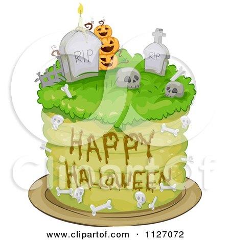 Happy Halloween Graveyard Cake Posters, Art Prints