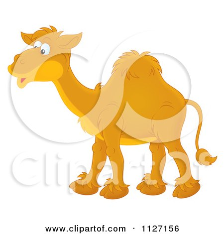 Cartoon Of A Happy Camel - Royalty Free Clipart by Alex Bannykh