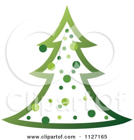 Clipart Of A Green Christmas Tree - Royalty Free Vector Illustration by dero