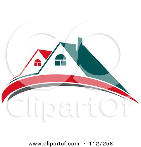 Clipart Of Houses With Roof Tops 4 - Royalty Free Vector Illustration by Vector Tradition SM