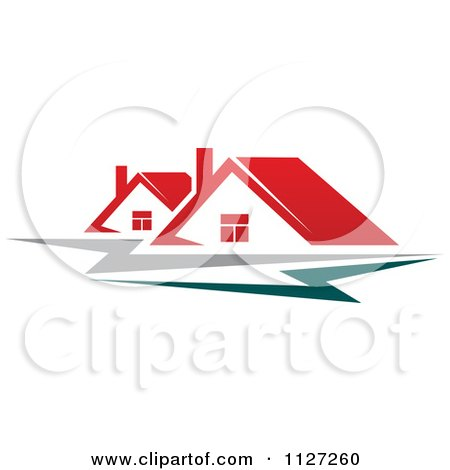 Clipart Of Houses With Roof Tops 1 - Royalty Free Vector Illustration by Vector Tradition SM
