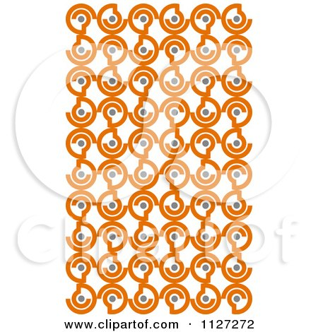 Clipart Of A Seamless Orange And Gray Circle Background Pattern - Royalty Free Vector Illustration by Vector Tradition SM