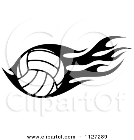 Royalty-Free (RF) Flaming Volleyball Clipart, Illustrations ...