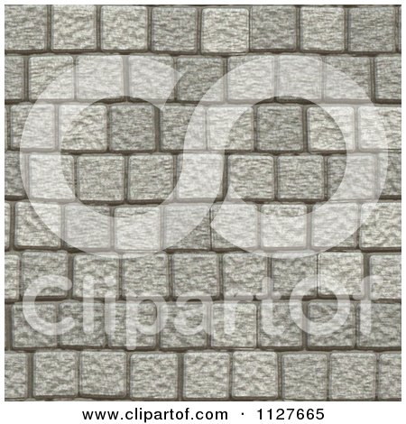 Clipart Of A Seamless Paver Stone Rock Texture Background ...