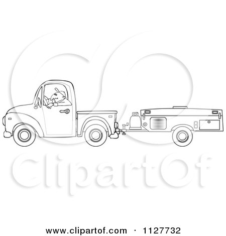 Man Driving A Motorhome