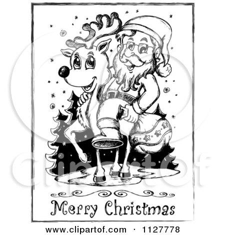 Cartoon Of A Merry Christmas Greeting