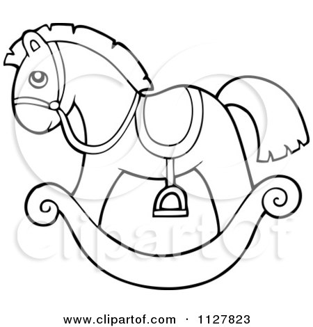 outlined toy rocking horse by visekart - Baby Rocking Horse Coloring Pages