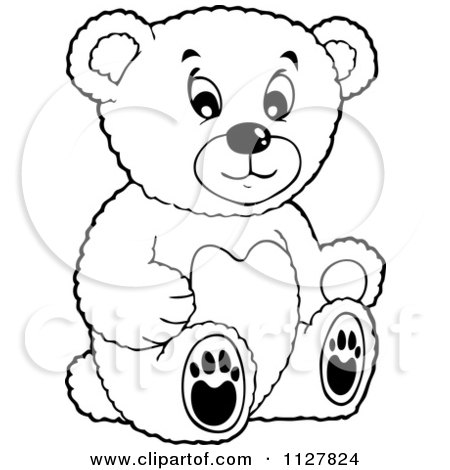 Cartoon Of A Toy Teddy Bear - Royalty Free Vector Clipart by ...