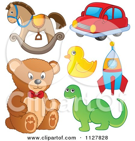 Cartoon Of Childrens Toys - Royalty Free Vector Clipart by visekart