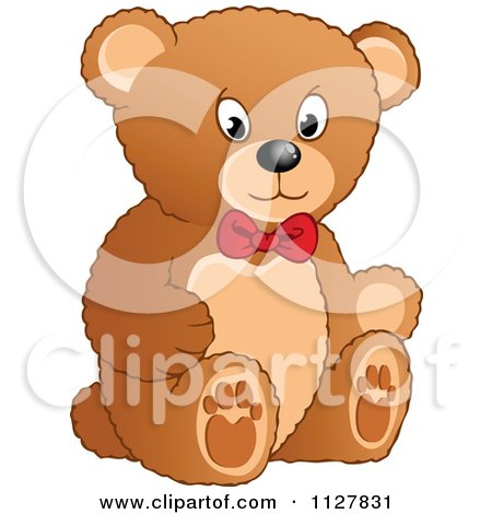 Cartoon Of A Toy Teddy Bear - Royalty Free Vector Clipart by visekart