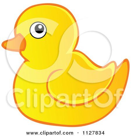 Clipart Of A Cartoon Yellow Duck Reporter Holding A