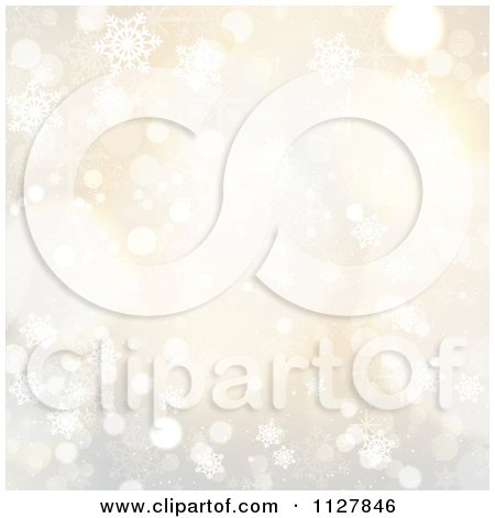 Clipart Of A Pastel Snowflake And Sparkle Background - Royalty Free Vector Illustration by KJ Pargeter