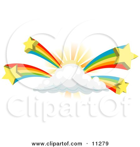 Rainbows Bursting From a Sun Behind a Cloud Posters, Art Prints