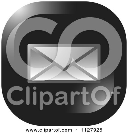 Clipart Of A Letter Envelope Email Icon - Royalty Free Vector Illustration by Lal Perera