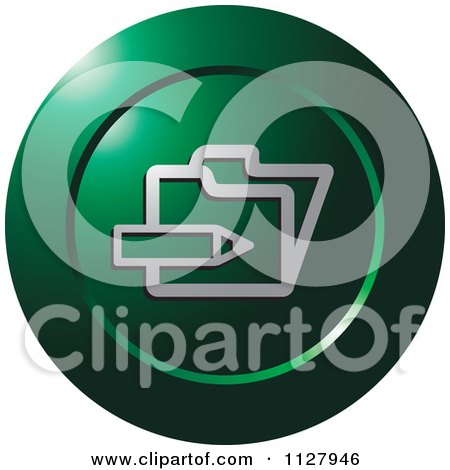 Clipart Of A Green Enroll Icon - Royalty Free Vector Illustration by Lal Perera