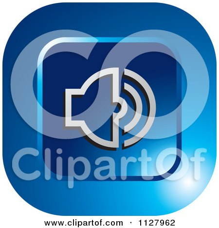Clipart Of A Blue Audio Icon - Royalty Free Vector Illustration by Lal Perera