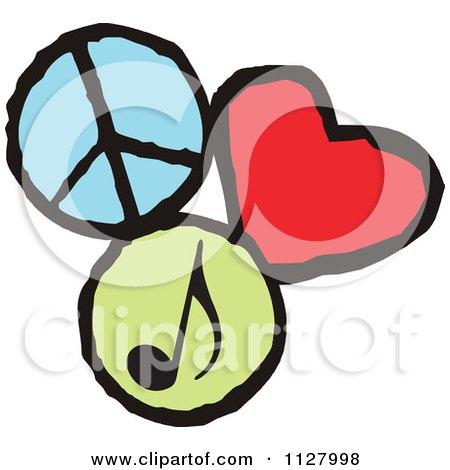 Peace Cartoon Drawings Peace Love Music Graphics