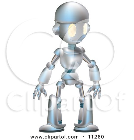 Futuristic Robot Drawings Friendly Futuristic Robot