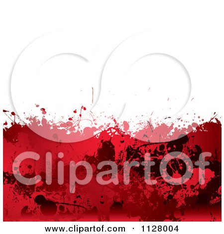 Clipart Of A Grungy Red Blood Splatter Horror Background - Royalty Free Vector Illustration by michaeltravers