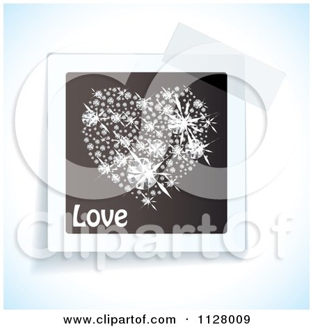 Clipart Of Tape Over A Love Diamond Heart Image - Royalty Free Vector Illustration by michaeltravers