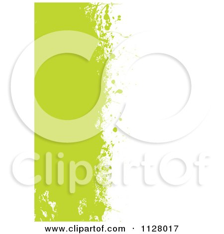 Clipart Of A Grungy Green Paint Splatter Background With White Copyspace - Royalty Free Vector Illustration by michaeltravers