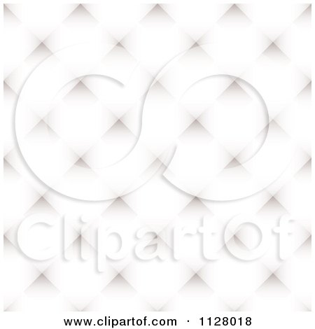 Clipart Of A White Diamond Pattern Background - Royalty Free Vector Illustration by michaeltravers