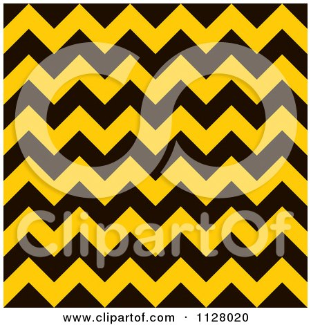Clipart Of A Yellow And Black Chevron Warning Stripes Background - Royalty Free Vector Illustration by michaeltravers