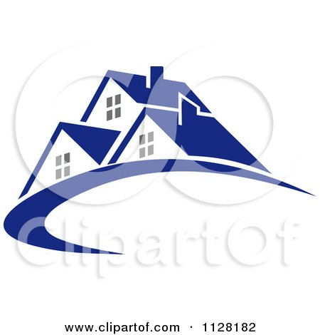 Clipart Of Houses With Roof Tops 5 - Royalty Free Vector Illustration by Vector Tradition SM
