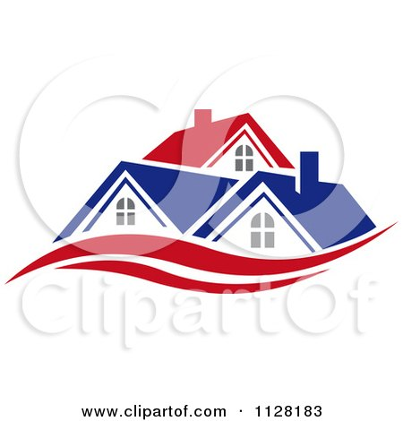 Clipart Of Houses With Roof Tops 6 - Royalty Free Vector Illustration by Vector Tradition SM